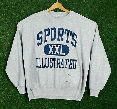 $29.99 • Buy Vtg Sports Illustrated Sweatshirt Spellout Graphic Crewneck Pullover 90s