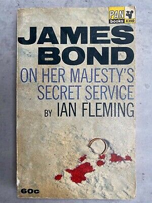 On Her Majesty's Secret Service VG FIRST Edition 1964 Ian Fleming PAN James Bond • 50£