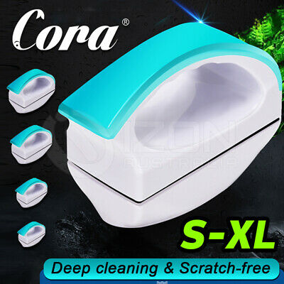 AU14.98 • Buy Magnetic Aquarium Cleaner With Handle Fish Tank Glass Brush Algae Scrubber Float