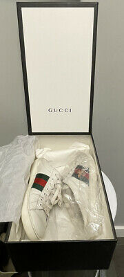 AU170.49 • Buy GUCCI Men's Ace Bee Embroidered Sneaker W/ Fold Down Heel Size 7* Or 8 Actual US