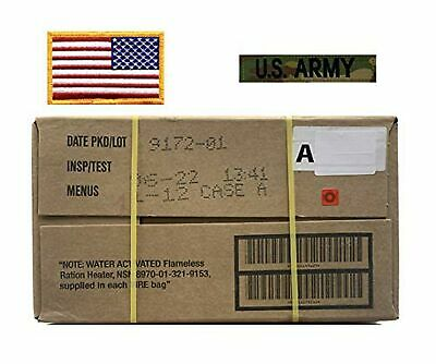 $141.84 • Buy MRE, Military A Case With American Flag Patch & Multicam US Army Tape – 06/2...
