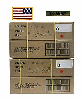 $244.31 • Buy MRE, Military A & B Cases With American Flag Patch & MC US Army Tape – 06/2...