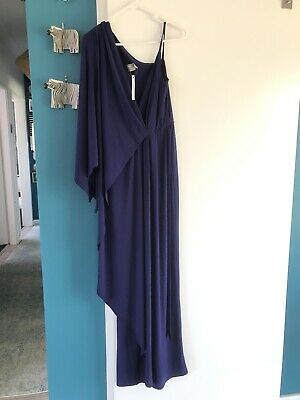 AU15 • Buy BNWT ASOS One Shoulder Maxi Dress. Size 10