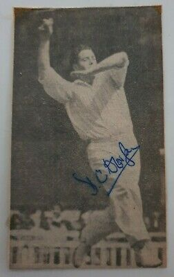 AU11.25 • Buy Derek Foster Signed In Person Newspaper Picture England Ashes Cricket