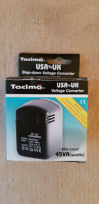 Tacima USA To UK Step Down Power Voltage Converter • 9.50£