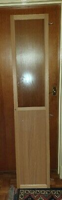 Ikea Oxberg Oak Door To Fit BILLY Bookcase, Half Glass And Half Solid • 15£