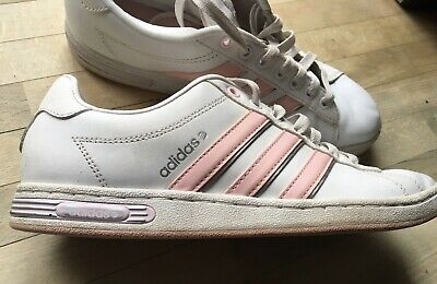 AU4.82 • Buy Adidas Vibecomplete White & Pink Ladies Trainers Size 6.5 UK