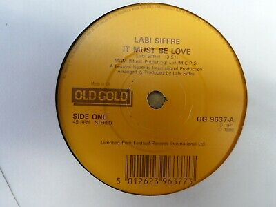 Labi Siffre      It Must Be Love / Crying, Laughing, Loving, Lying    ( Reissue) • 0.70£