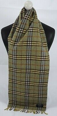 Burberry Scarf 100% Lambswool For Men And Women Made In England Green • 6.50£