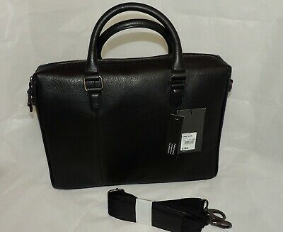 NEW The Eighth DESIGNER Black Leather LAPTOP BAG W/Detachable Strap - RRP £140 • 59.99£