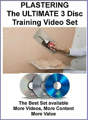 £4.75 • Buy Plastering DVD Learn How To Plaster Training Course  3 DVD Set Ultimate Edition