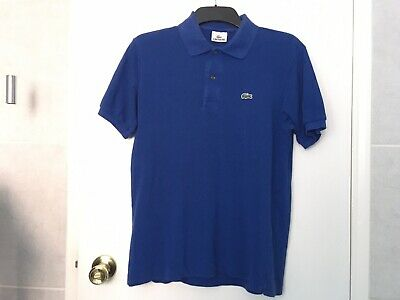 Lacoste Polo Shirt - Medium - Size 4 - Blue • 2.99£