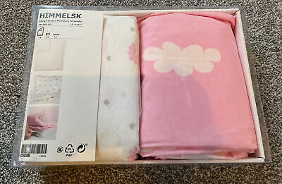 New Girls Single Cotbed Bedding Set - Duvet Cover, Fitted Sheet & Pillow Case • 3£