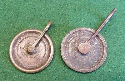Two Salvaged Antique Victorian Brass Servants Bell Pulleys/Cable Cams. • 4.99£