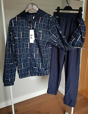 £185 Lacoste Sport Novak Djokovic Set Jacket Trousers Mens Boys XS Tracksuit • 75£