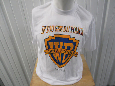 Vintage Dorsett If You See Da' Police Warn A Brother Warner Brother Rip Xl Shirt • 21.45£