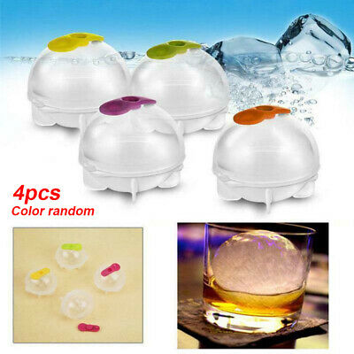 4PCS Ice Ball Cube Maker Sphere Mold Round Jelly Mould Set Cocktail Whiskey • 5.15£