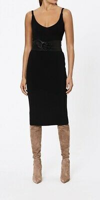 AU256 • Buy BNWT SCANLAN THEODORE Crepe Knit Slit Back Skirt Size S