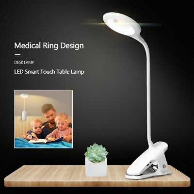 AU14.39 • Buy LED Flexible USB Reading Light Eye Protection Clip-on Beside Bed Table Desk Lamp