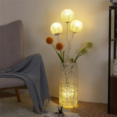 Wedding Decorative Rattan Lamp Floor Standing Flower Light Living Room Bedroom  • 73.99£