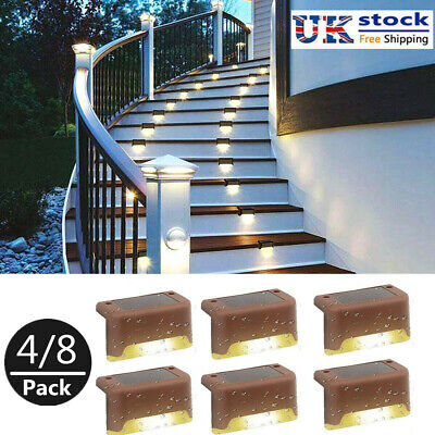 £9.59 • Buy 12 Pcs LED Solar Powered Fence Wall Lights Garden Lamp Step Path Decking Outdoor