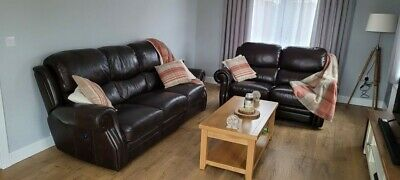 La-Z-Boy Leather 3 Seater Electric Recliner And 2 Seater Manual Recliner • 1,250£