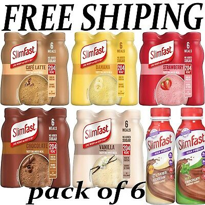 £11.99 • Buy Slim Fast Shakes Multipack High Protein Weight Loss CHOOSE FLAVORE (6 X 325 ML)