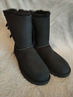£70 • Buy UGG Short Bailey Bow Black Boots. Uk Size 10.5. Fantastic Condition