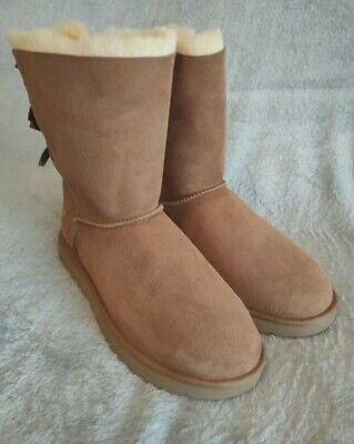 £70 • Buy UGG Short Bailey Bow Chestnut Boots. Uk Size 10.5. Fantastic Condition