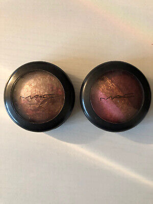 MAC Mineralize DELUXE SIZE Eyeshadows X 2 (ENGAGING & THREESOME) • 10£