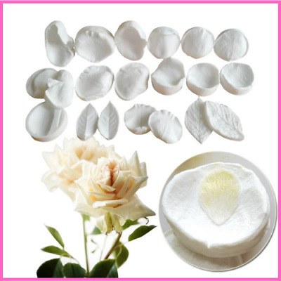 Silicone Mold Rose Petal Veiner And Cutter Meridians Sugar Flower Wafer Paper • 11.21£