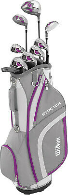 AU361.15 • Buy Wilson Women's Stretch Golf 9-Club Set With Cart Bag Extended Length Brand New
