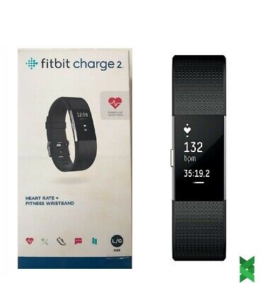 $ CDN150 • Buy Fitbit Charge 2 HR + Fitness Wristband, FB407SBKL, Large, Black