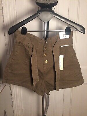 Ladies Size 12 Paper Bag Waist Shorts New With Tags • 2.70£