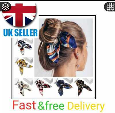 £2.99 • Buy  Bow Knot Hair Ties Bands Headband Elastic Scrunchy Scarf Ponytail Holder Pack