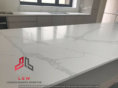 £0.99 • Buy  Calacatta Oro Quartz Kitchen Worktop   All Colours Available   Affordabl