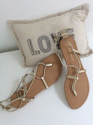 Sandals Boho Style Gold Lace Up Gladiator Style Size 7 Brand New And Gorgeous • 4.50£