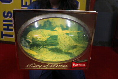 $ CDN56.82 • Buy Vintage 1950s Budweiser Beer Hunting Scene Gas Oil 18  Bubble Front Lighted Sign