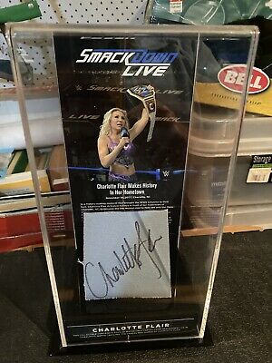 AU0.99 • Buy Fanatics Signed Charlotte Flair Wwe Smackdown Ring Mat Piece