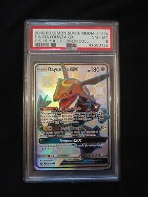 $ CDN227.89 • Buy Psa 8 Mint Shiny Rayquaza GX 177 Hidden Fates Collection Pokemon Card 2018