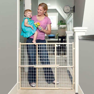 £27.49 • Buy Baby Safety Gate Wooden Lock Tall Pressure Mount Position Child Dog Infant Door