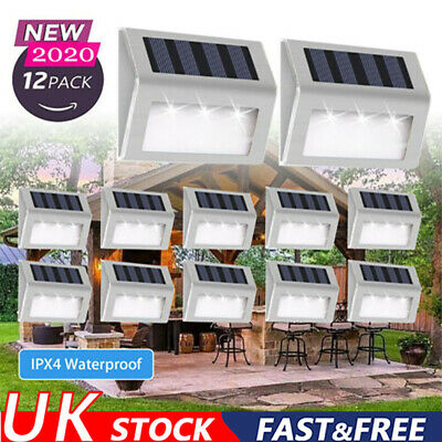 Super Bright Solar Powered LED Door Fence Wall Lights Outdoor Garden Lighting UK • 12.64£