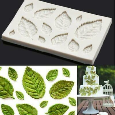 Rose Leaves Silicone Fondant Mould Cake Tree Flowers Leaf Decorating Baking Mold • 3.29£