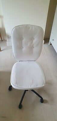 IKEA Swivel Chair Desk Chair Home Office White On Wheels • 15£