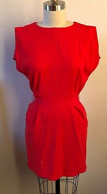 AU12.50 • Buy Asos | Red Work Dress - Women's Size 8