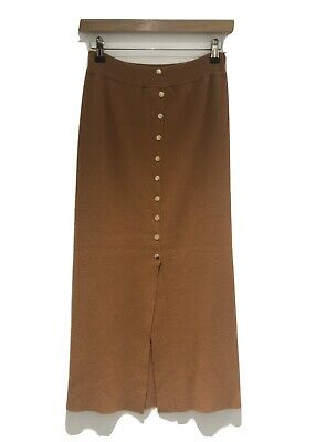 £7.49 • Buy Primark Knitted Midi Shirt Size S Gold Buttons Camel Tan Brown