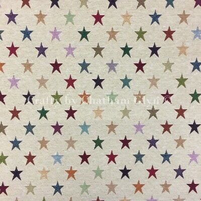 £7 • Buy New World Tapestry Fabric Luxury Weight Cotton Rich Fabric 1.4m Wide Stars