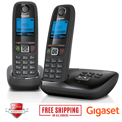 Gigaset Cordless Home Phone Answering Machine Twin Handset House Office Landline • 37.99£