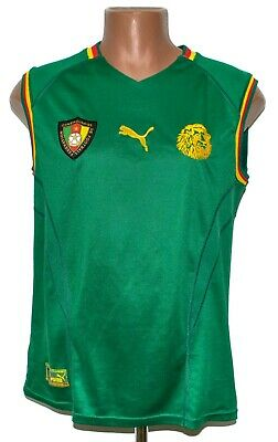 £59.99 • Buy Cameroon National Team 2002 Home Football Vest Shirt Jersey Puma Size S Adult