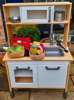 IKEA Kids DUKTIG Wooden Toy Play Kitchen With Lots Of Extra Accessories • 20£
